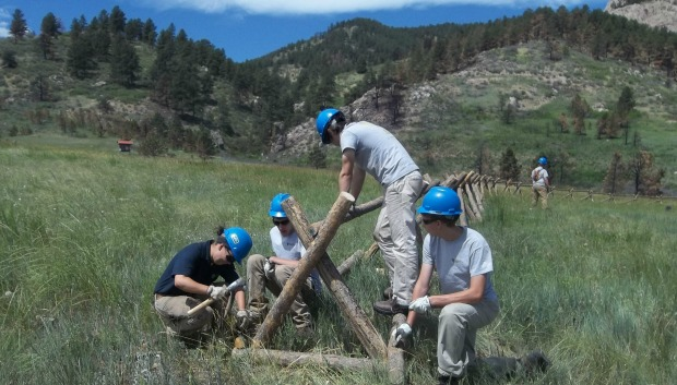 LCCC log fence
